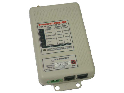 Piccolo RFI-433 data radio modem is a licence free frequency hopping unit
