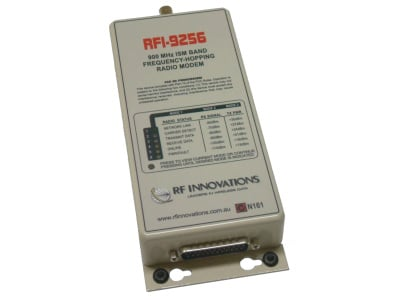 RFI-9256 data radio modem is a licence free frequency hopping unit