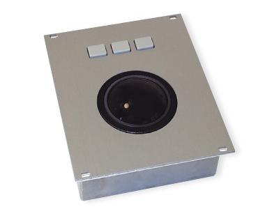 KH06521 - TKH-TB50-AL-NAT-FP-PS-2, KH09433 - TKH-TB50-AL-NAT-FP-USB (Aluminium Trackball - 50mm)