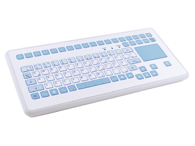 TKS-088c-TOUCH-AM-KGEH Compact Medical Keyboard with Touchpad