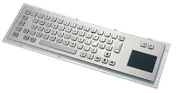 CKB001T - CyberVisuell Rear Mounting Stainless Steel Keyboard