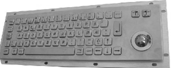 CKB003 - CyberVisuell Rear Mounting Stainless Steel Keyboard