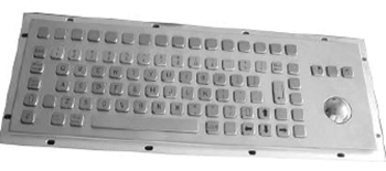 CKB005 - CyberVisuell Panel mounting Stainless Steel Keyboard