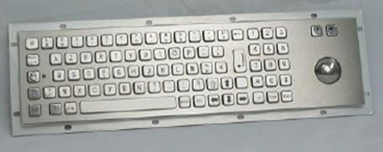 CKB015 - CyberVisuell Panel Mount Stainless Steel Keyboard