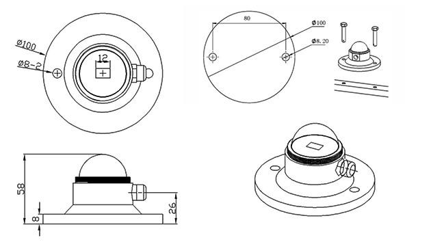 RK200-04-Solar-Radiation-Sensor-Solar-Irradiance-Sensor-dimension